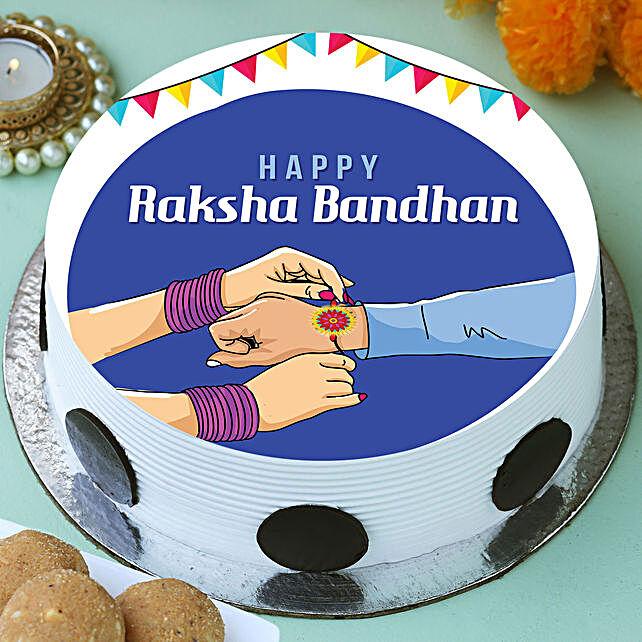 Happy Raksha Bandhan Photo Cake
