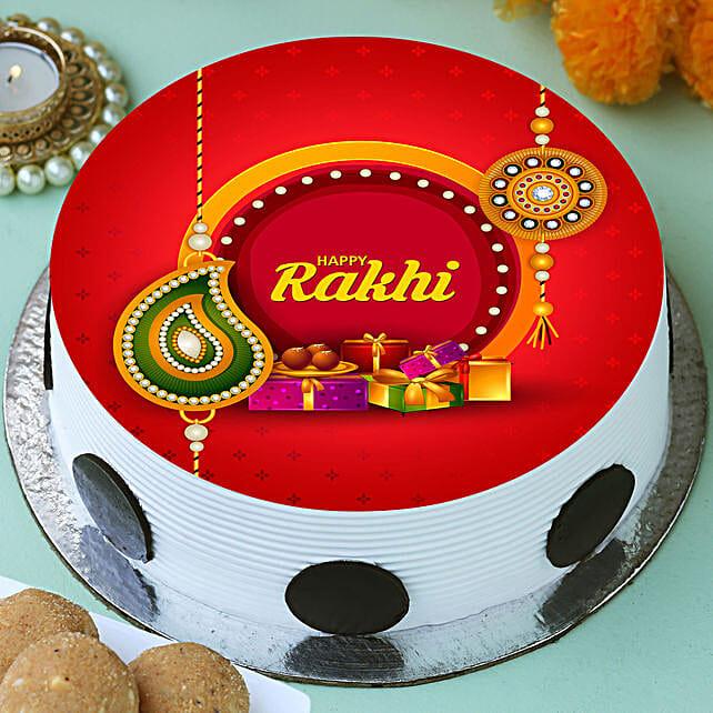 Rakhi Printed Photo Cake Online