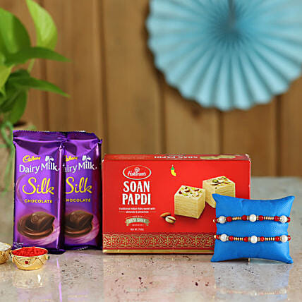 Rakhi and Sweets Box Online