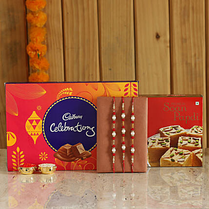 Rakhi and Sweets Combo Online