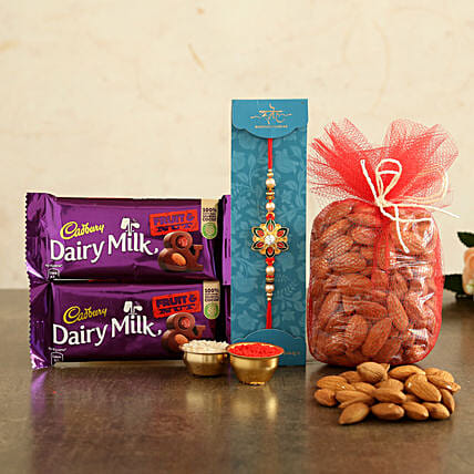 Rakhi and Dry Fruits Combo Online