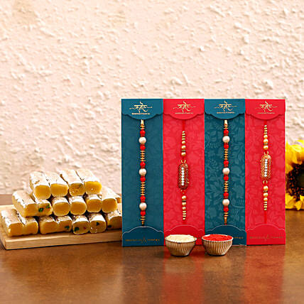 Online Designer Rakhi Sets With Sweets