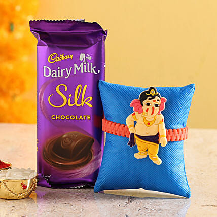 Online Cartoon Rakhi and Chocolate