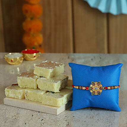 Online Designer Rakhi  With Sweets