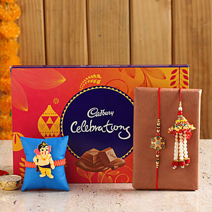 Family Rakhi Set With Cadbury Celebration Box online
