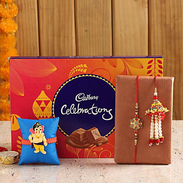 Family Rakhi Set With Cadbury Celebration Box online