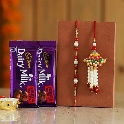 onilne rakhi n delicious chocolate surprise for bro