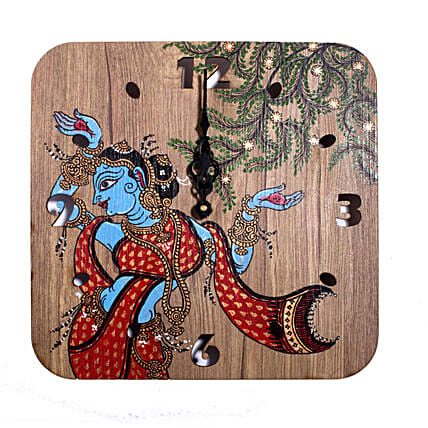 Indian Goddess Printed Wall Clock:Wall Clocks