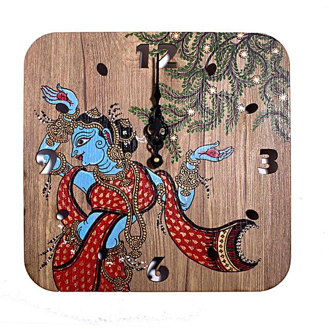 Indian Goddess Printed Wall Clock:Wall Clock Gifts