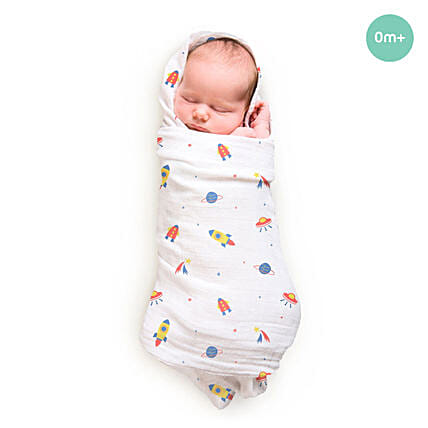 Bamboo Swaddle Pamper Space Rocket
