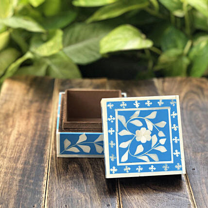 Online Blue Resin Box