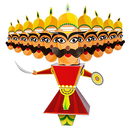 Raavan 3D DIY Paper Craft Kit:Dussehra Gift Ideas