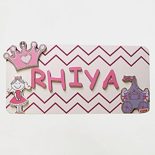 Online Name Plaque Medium- Princess