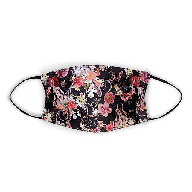 Online Black Floral Mask