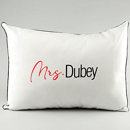 Name Printed Pillow Cover For Wife