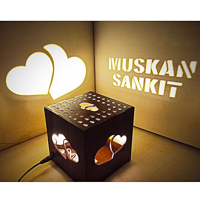 Heart Shadow Box With Night Lamp