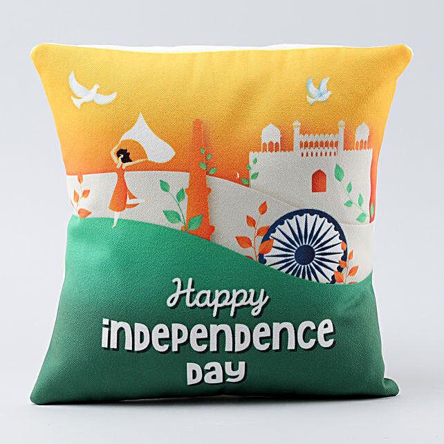 happy india printed cushion