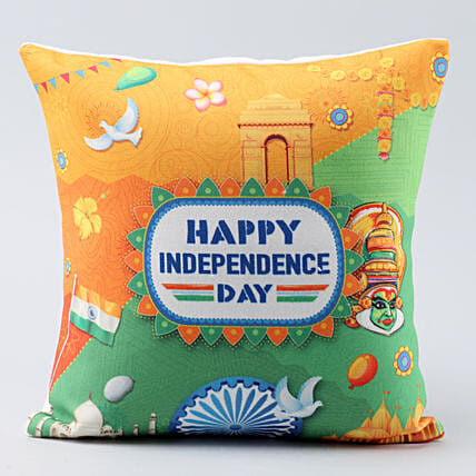 indian monuments printed cushion:Independence Day Gifts