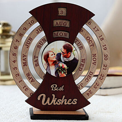 Best Wishes Personalised Calendar :Send Personalised Photo Frames for Anniversary