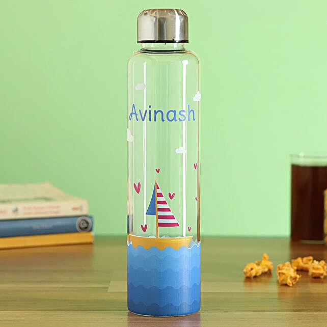 Personalised Borosilicate Glass Bottle