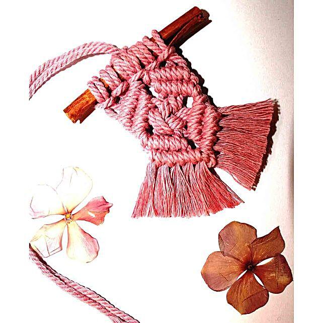 Macramay decorative cinnamon stick hanging