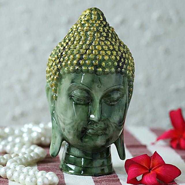 premium marble finish buddha idol