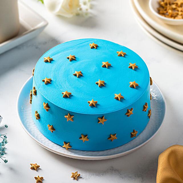 Blue Choco Cream Cake