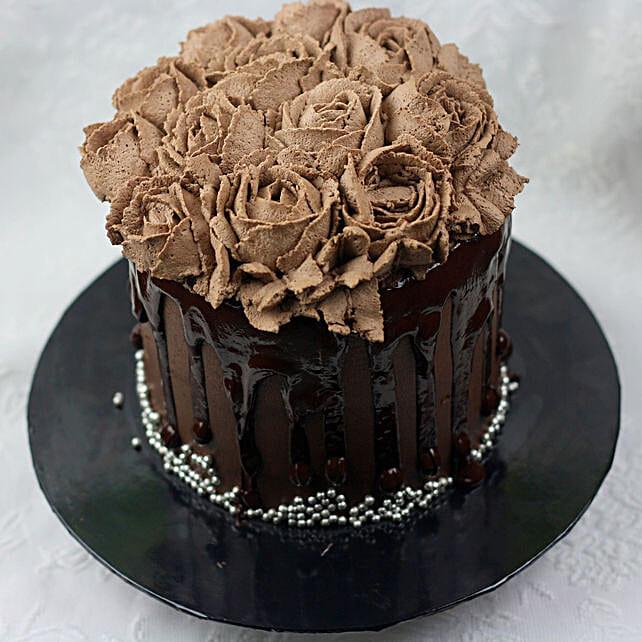 Floral Chocolate Cake Birthday