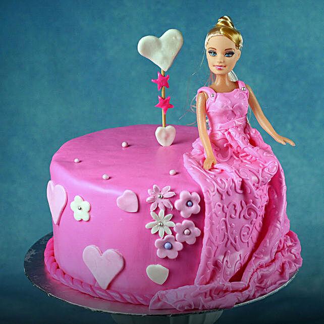 Barbie Doll Cake for Kids - Chocolate