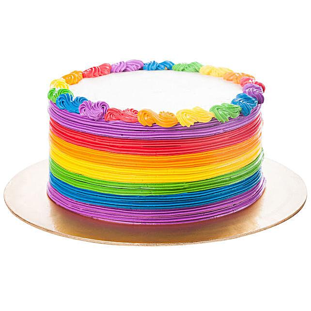 Designer Rainbow Pineapple Cake:Gifts for 2Nd Birthday