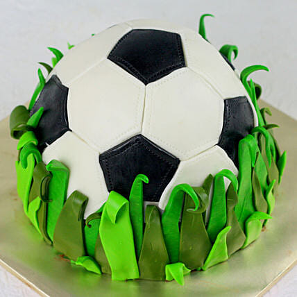 OnlineFootball Truffle Fondant Cake:Gifts for Sports-lovers