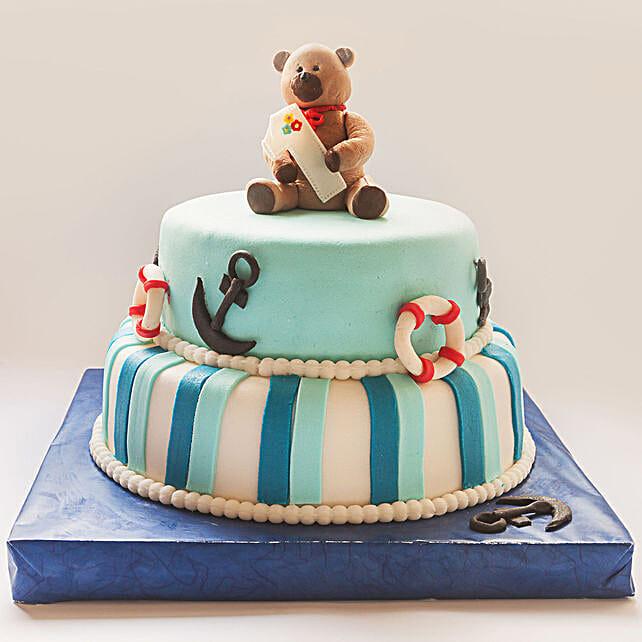 OnlineTeddy Bear 2 Tier Truffle Cake