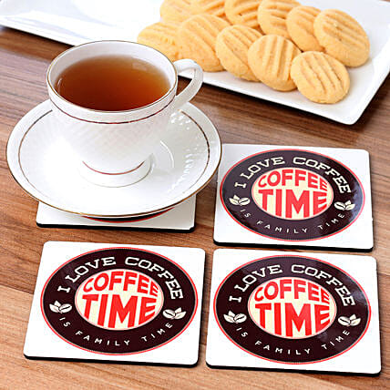 best printed coaster set for coffee lover