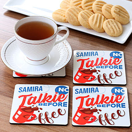 personalised coaster set for her