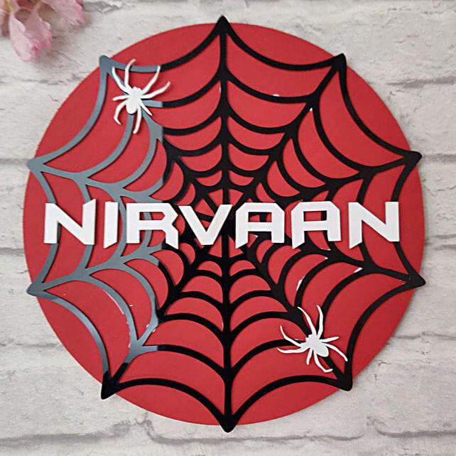 Spiderman Nameplate Online