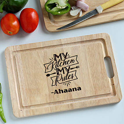 personalised kitchen chopping board