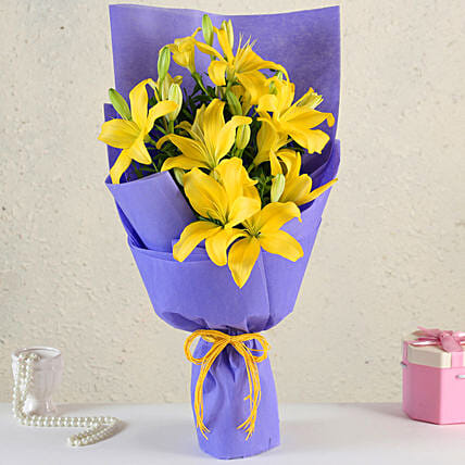 Online Yellow Asiatic Lilies