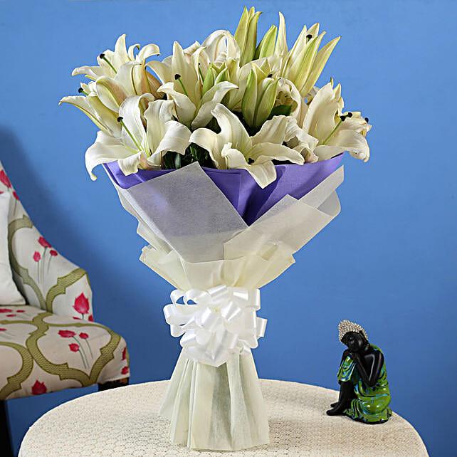 Online White Lilies Bouquet