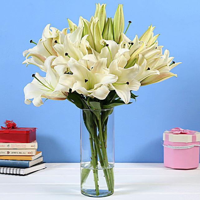 Online Lilies Glass Vase