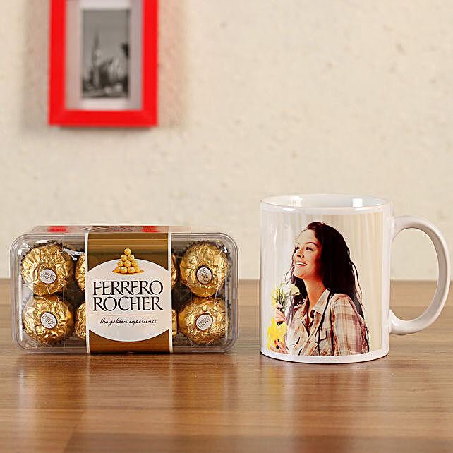 personalised mug with ferrero rocher online