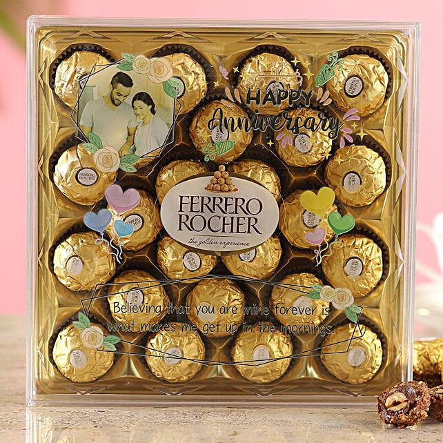 Happy Anniversary Personalised Ferrero Rocher Box
