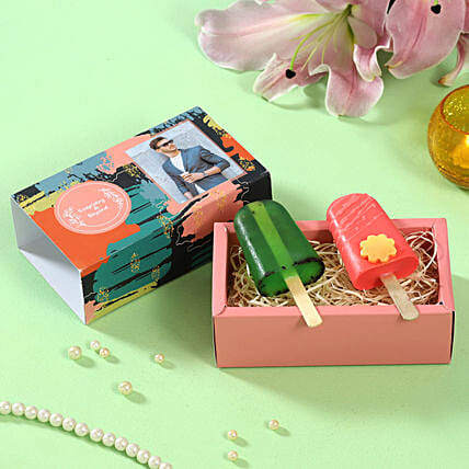 Popsicle Shaped Soaps Personalised Box:Personalised Soaps