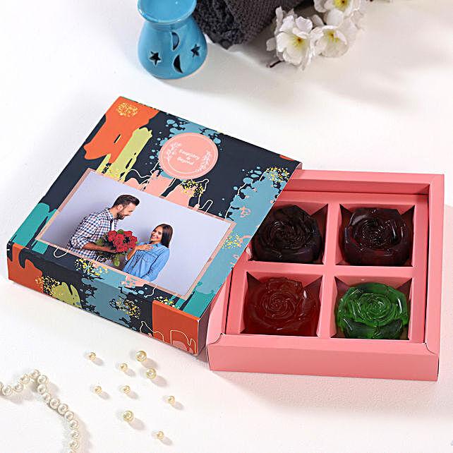Rosey Affair Soaps Personalised Box:Personalised Soaps
