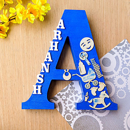 Embellished  Wooden Monogrammed Initial:Unusual Gifts For Fathers Day