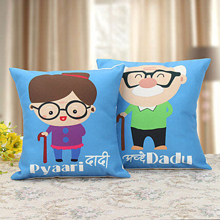 printed cushion for grandparents
