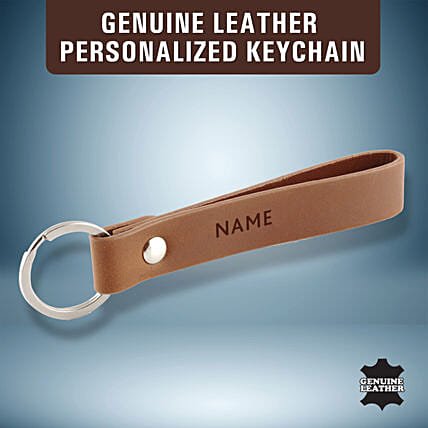 personalised leather key chain:Personalised Keychains