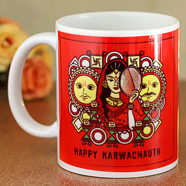 printed mug for karwa chauth online:Karwa Chauth Gifts for Bahu