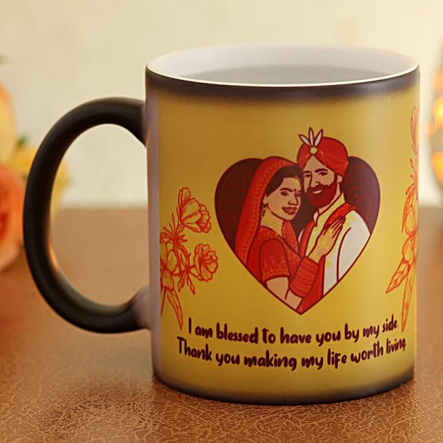 online magic mug for karwa chauth
