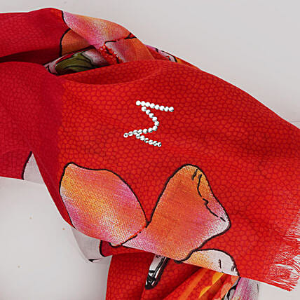 Online Red Customised Scarf:Scarves And Stoles