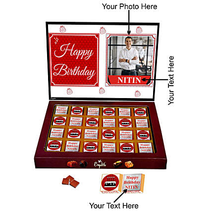 lovely personalised chocolate for him
